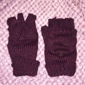 Fingerless Mittens with Removable Top